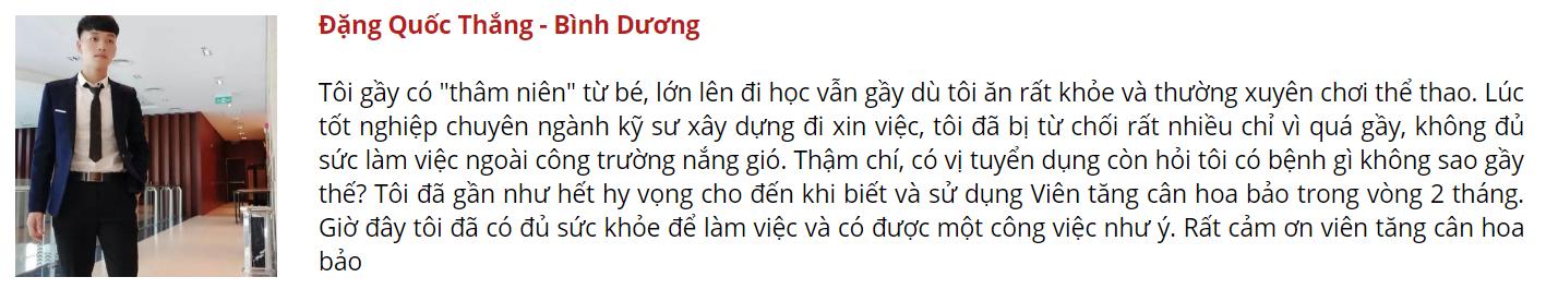 thuốc tăng cân Hoa Bảo - DANG QUOC THANG