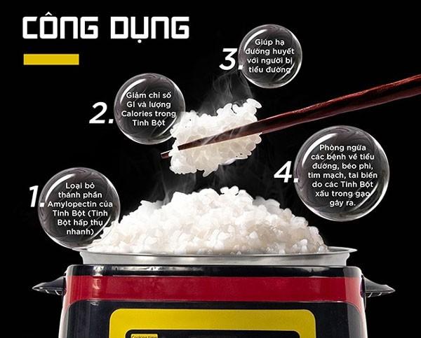 Công dụng nồi cơm tách đường