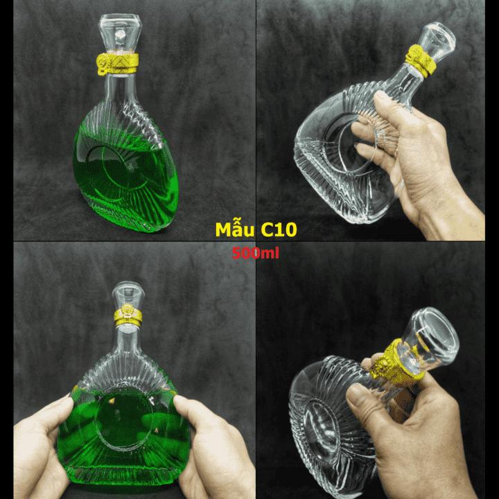 c10-chai-thuy-tinh-dung-ruou-cao-cap-500ml-pha-le